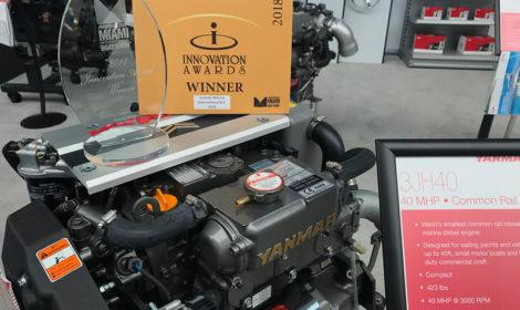 Yanmars indenbordsmotor 3JH40 vinder innovationspris